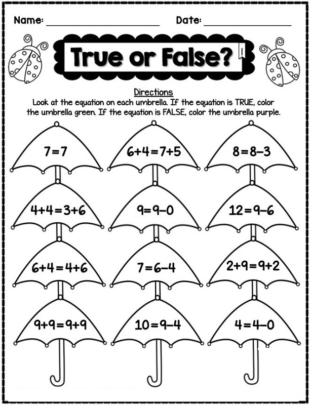 math is fun worksheet for kids