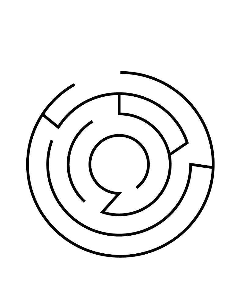 simple mazes for kids printable
