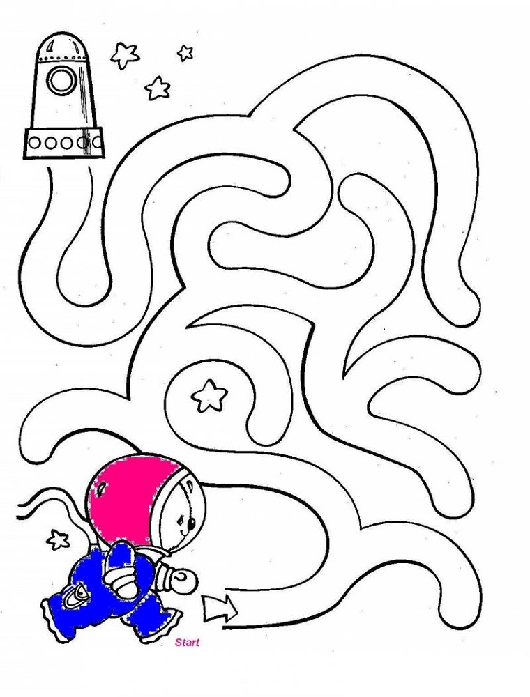 simple mazes for kids to print