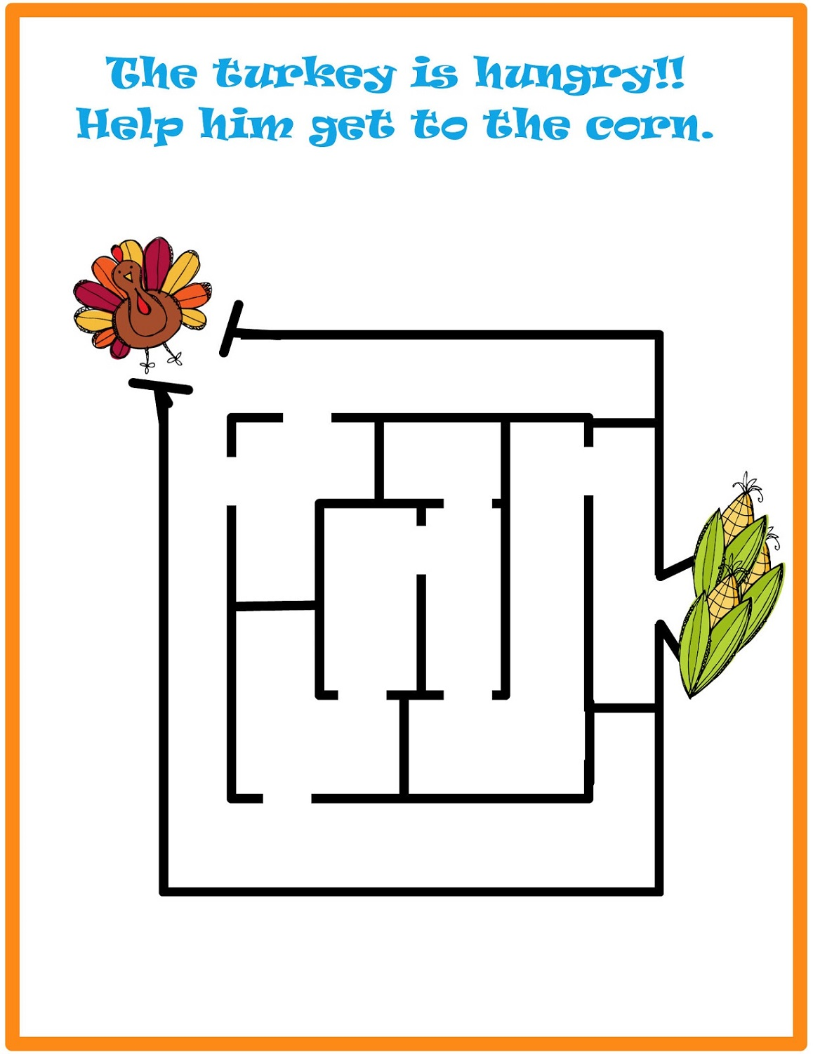 simple mazes for kids turkey