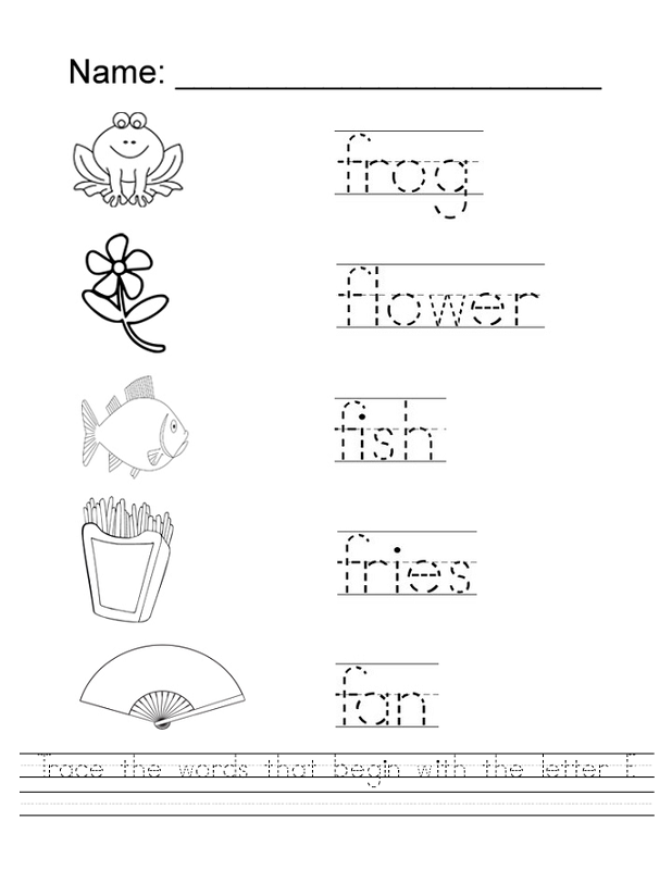 trace letters worksheet preschool