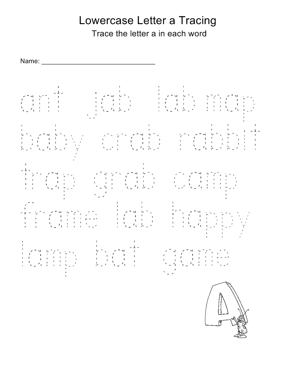 trace letters worksheet printable