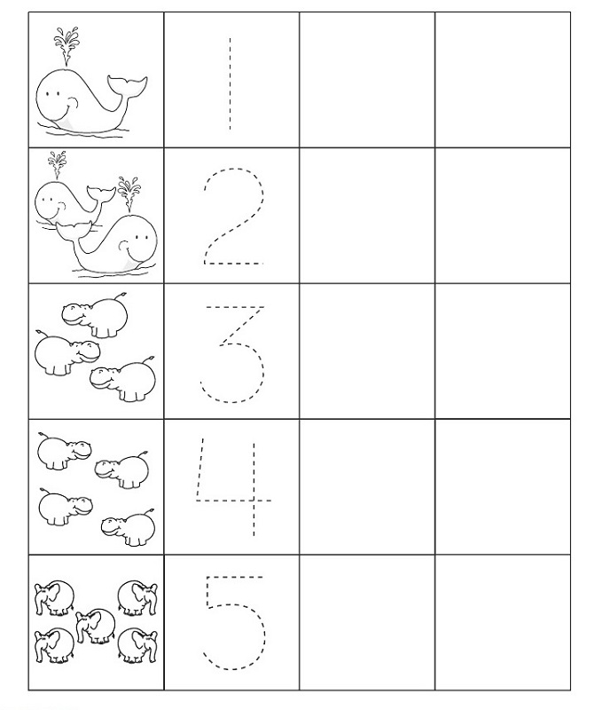 trace number worksheets kindergarten