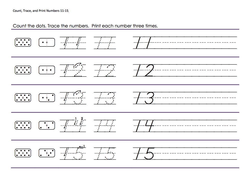 trace number worksheets pdf