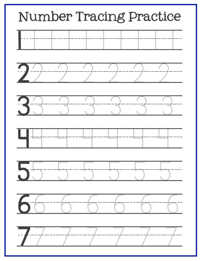 trace number worksheets pre-k