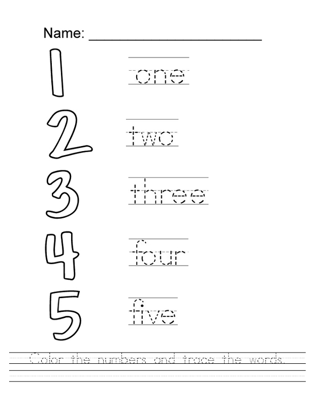 trace number worksheets printable
