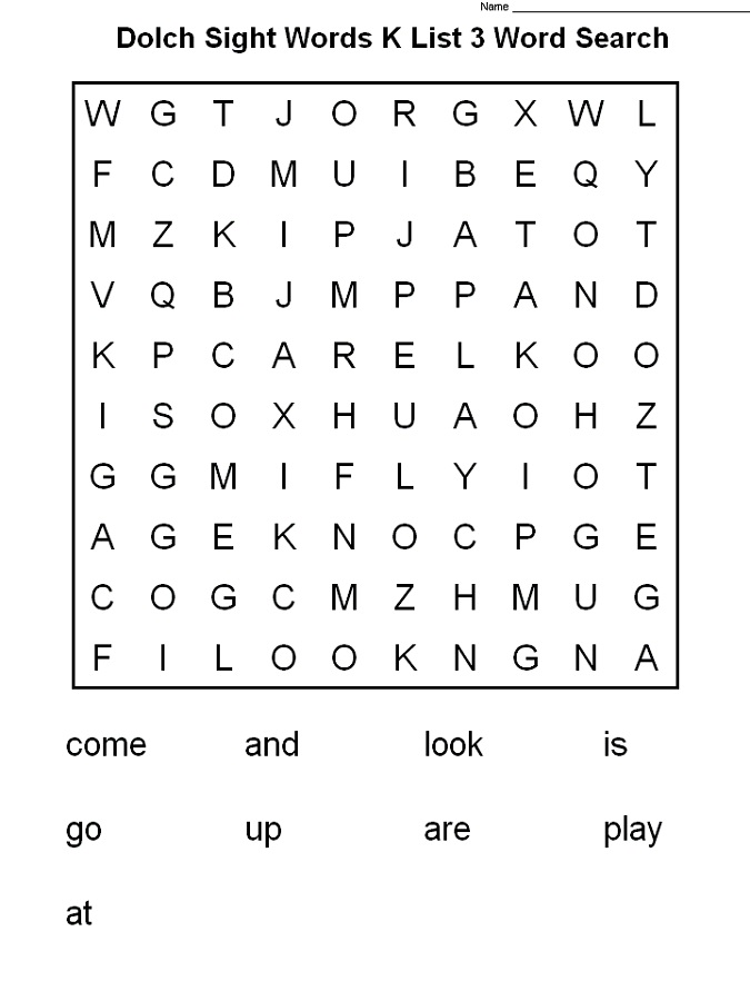 word search worksheets easy