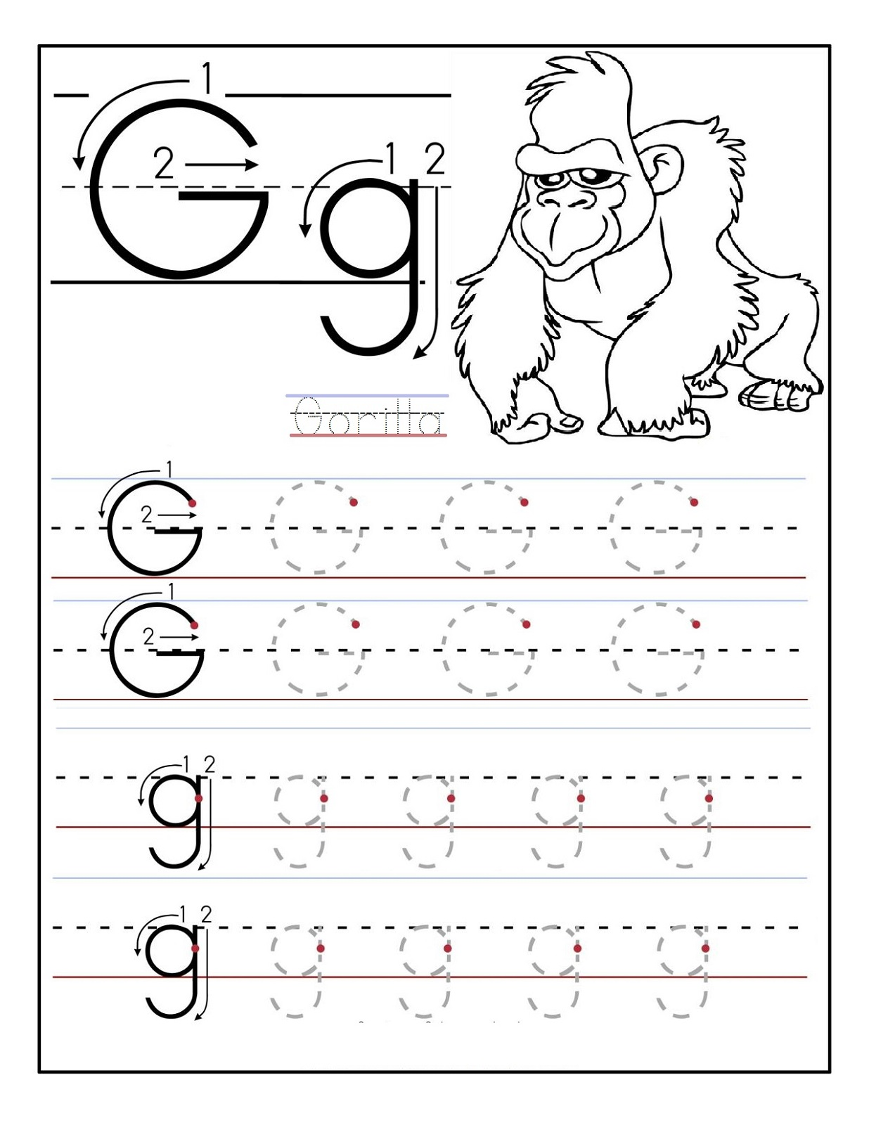 Free Printable Activities G