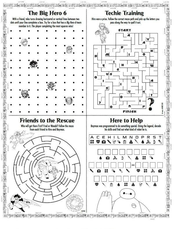 Free Printable Activities Puzzle