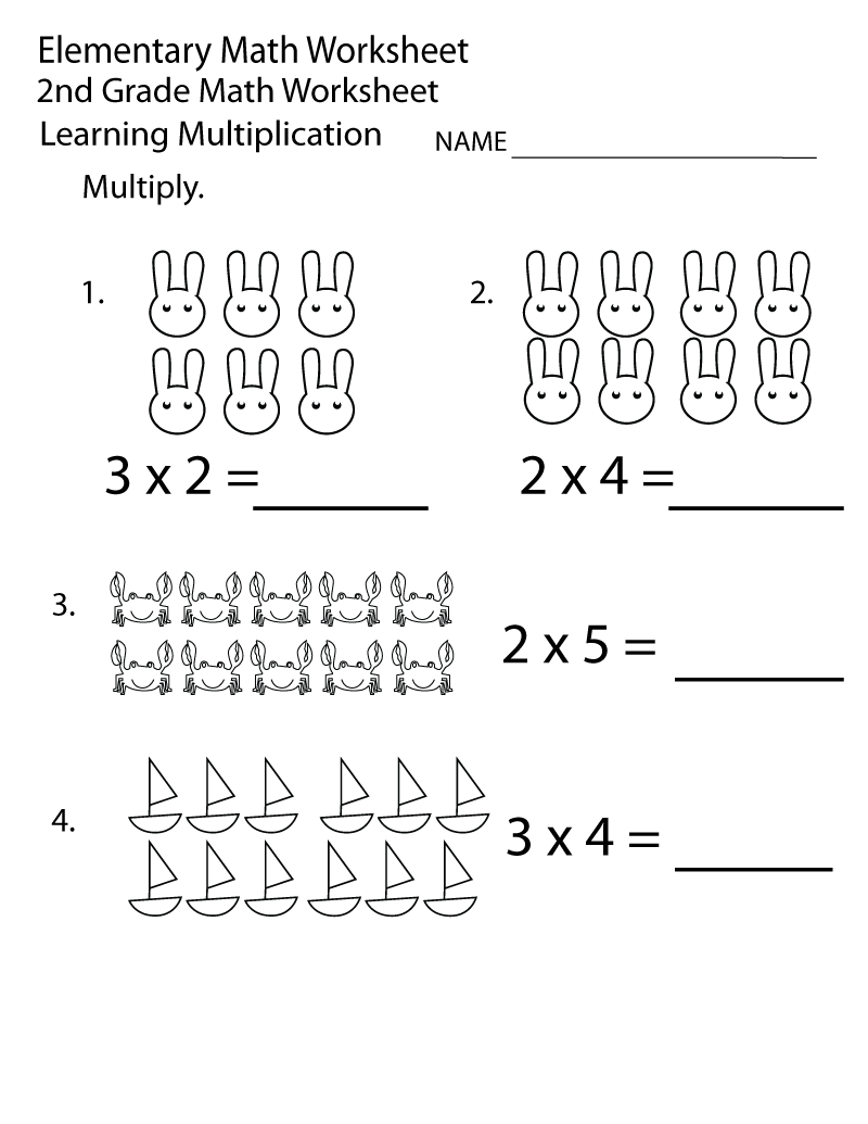 Printable Math Worksheets 2nd