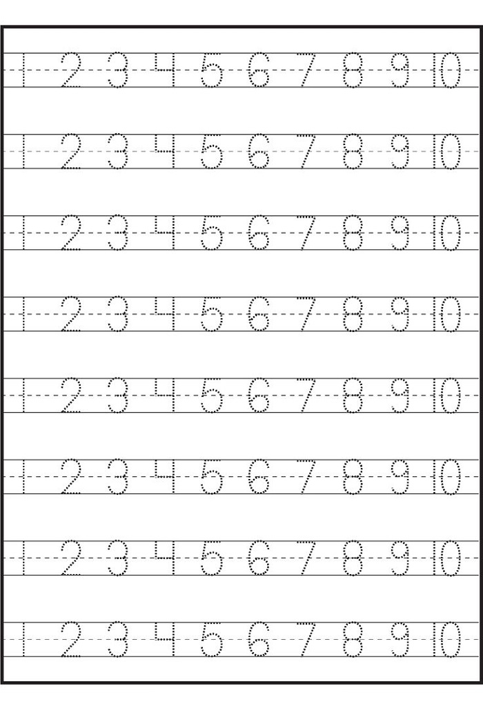 Preschool Worksheets Number