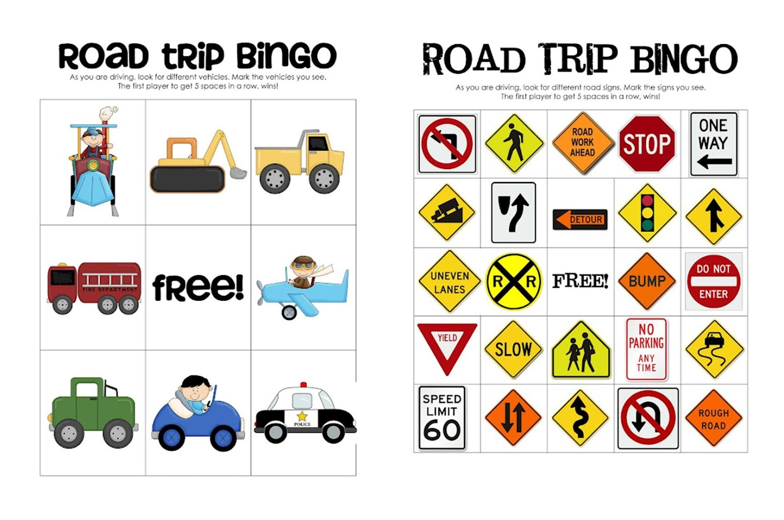 Printable Activities for Kids in Car