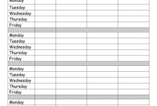 Printable Homework Sheets Record