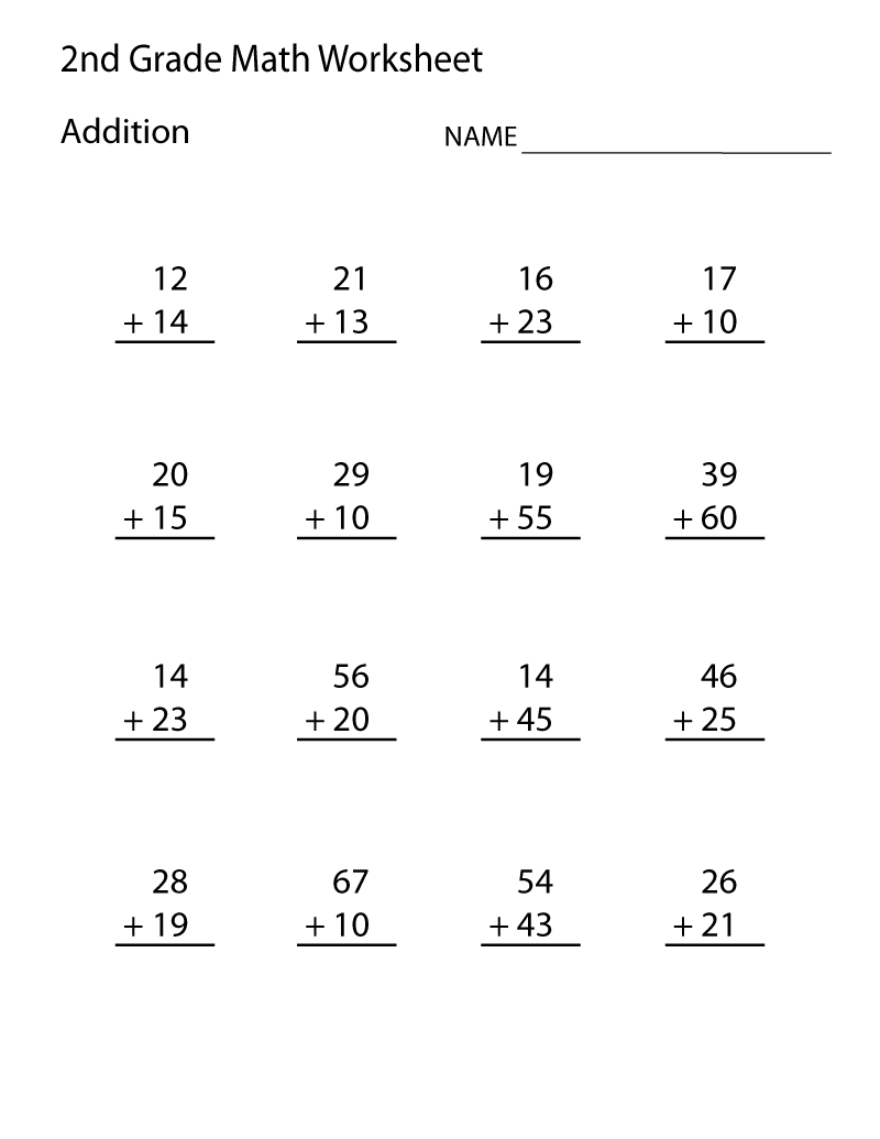 Second Grade Worksheets Math