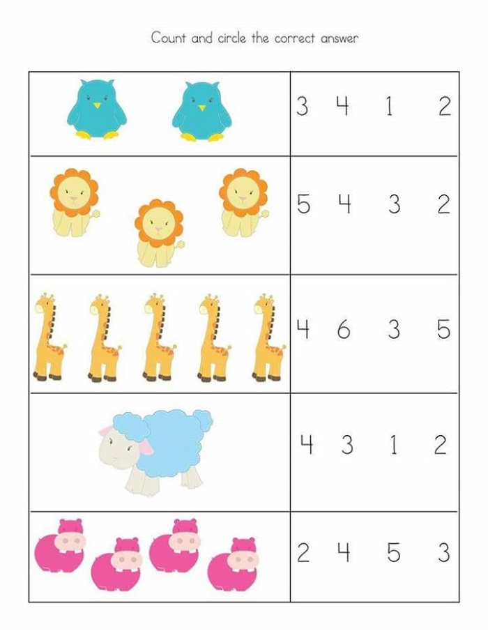 Toddler Worksheets Math