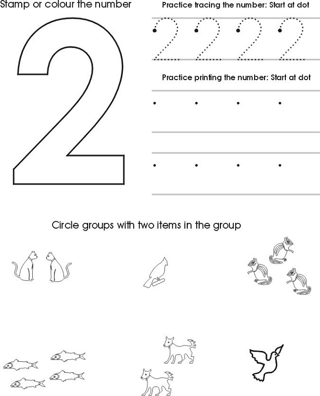 Toddler Worksheets Number