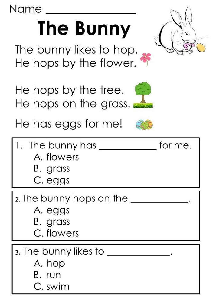 Toddler Worksheets Reading