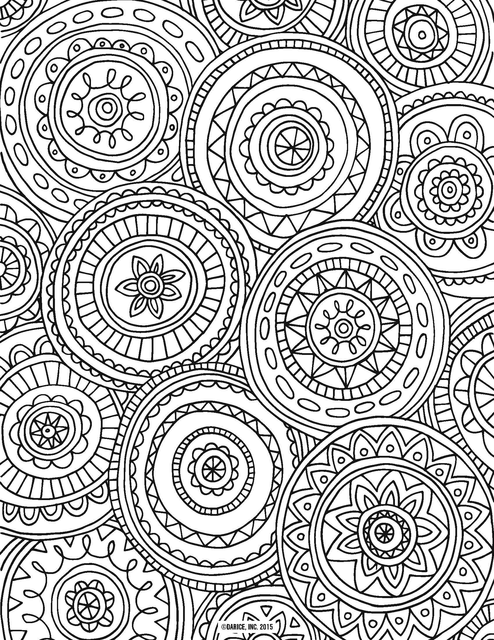 adult coloring books circle