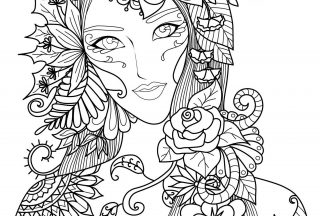adult coloring books woman