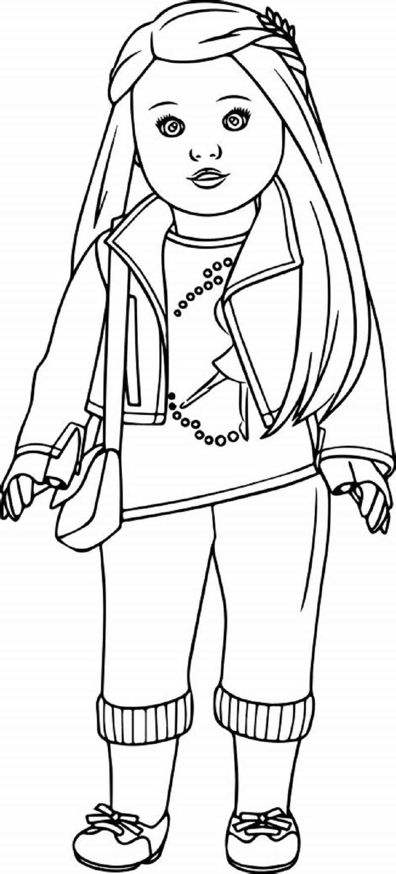 american girl doll coloring pages issabel