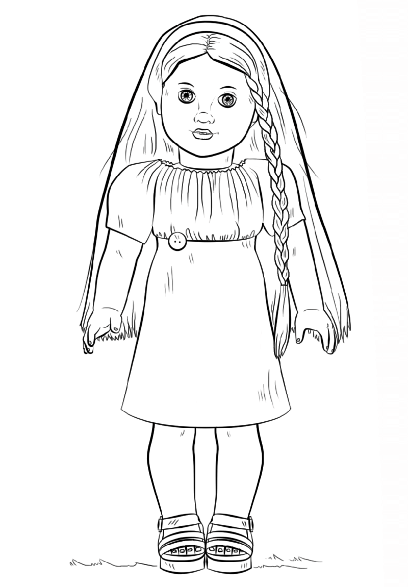 american girl doll coloring pages julie