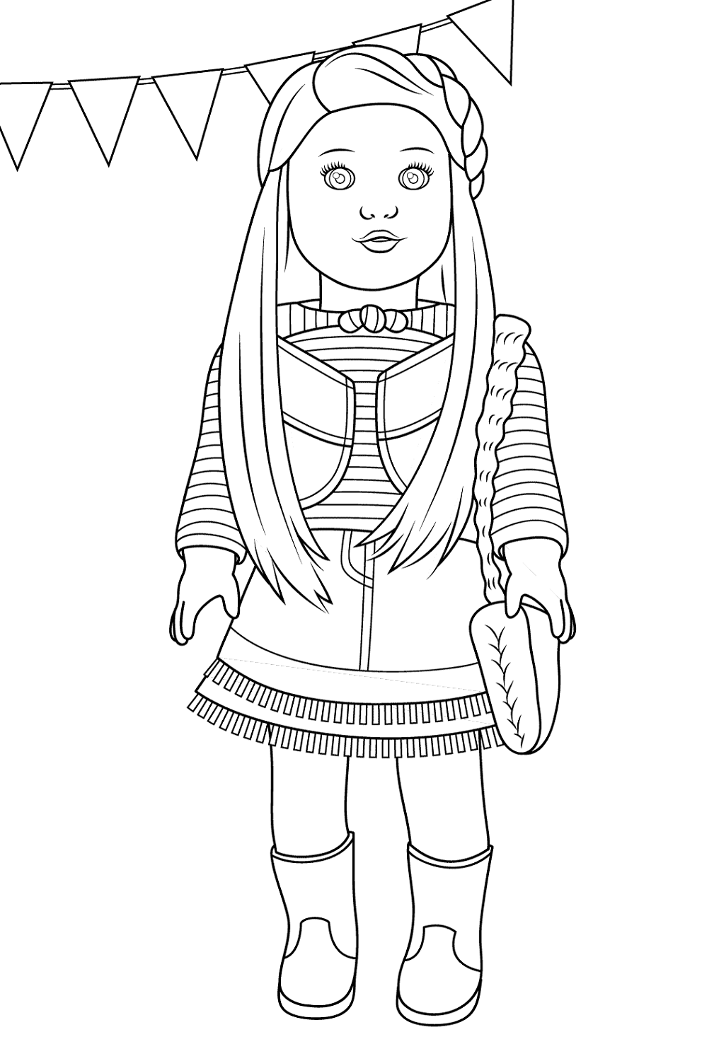 american girl doll coloring pages mc kenna