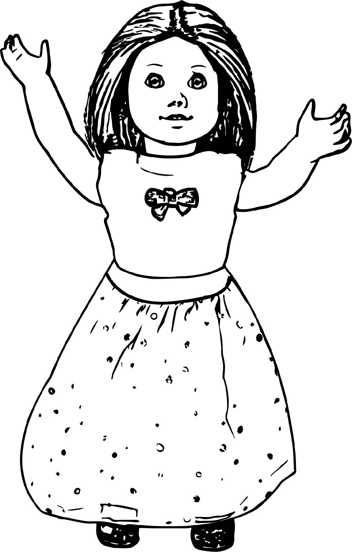 american girl doll coloring pages toy