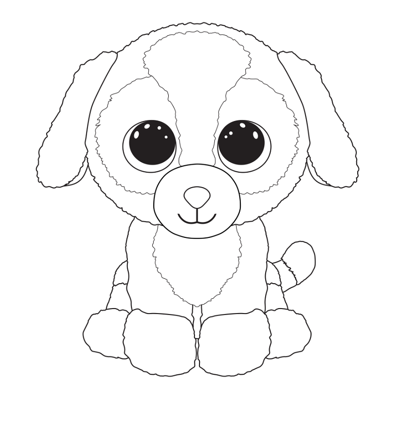 beanie boo coloring pages duke