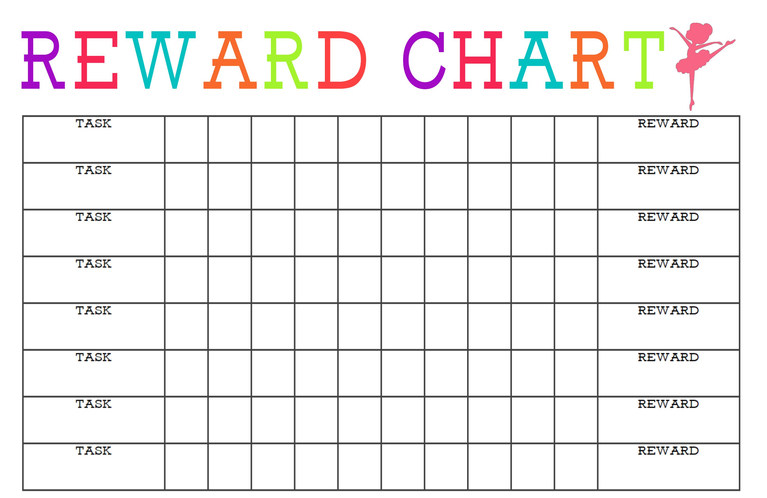 behavior reward chart girl
