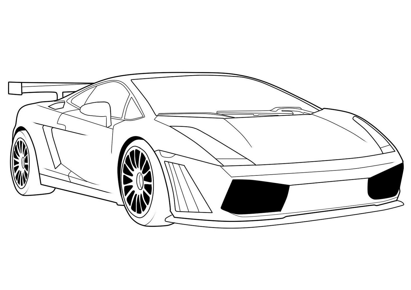 car coloring pages lamborghini