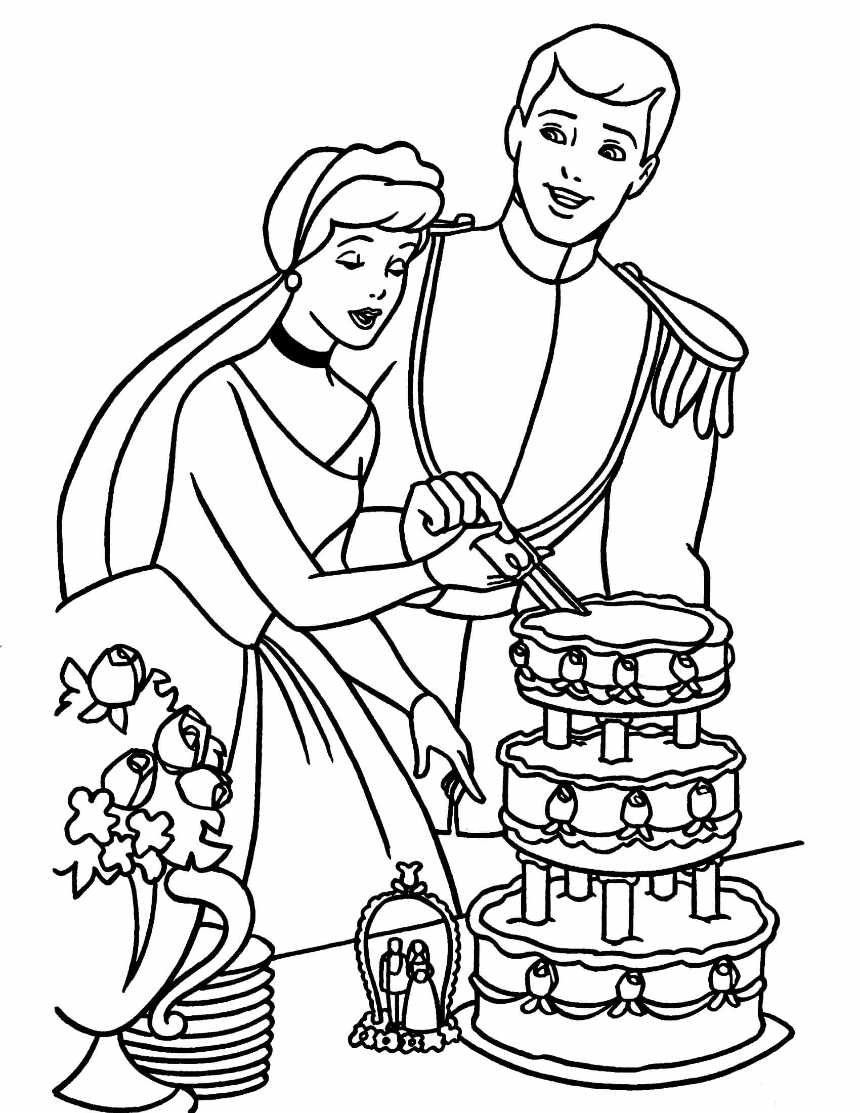coloring pages for girls cinderella