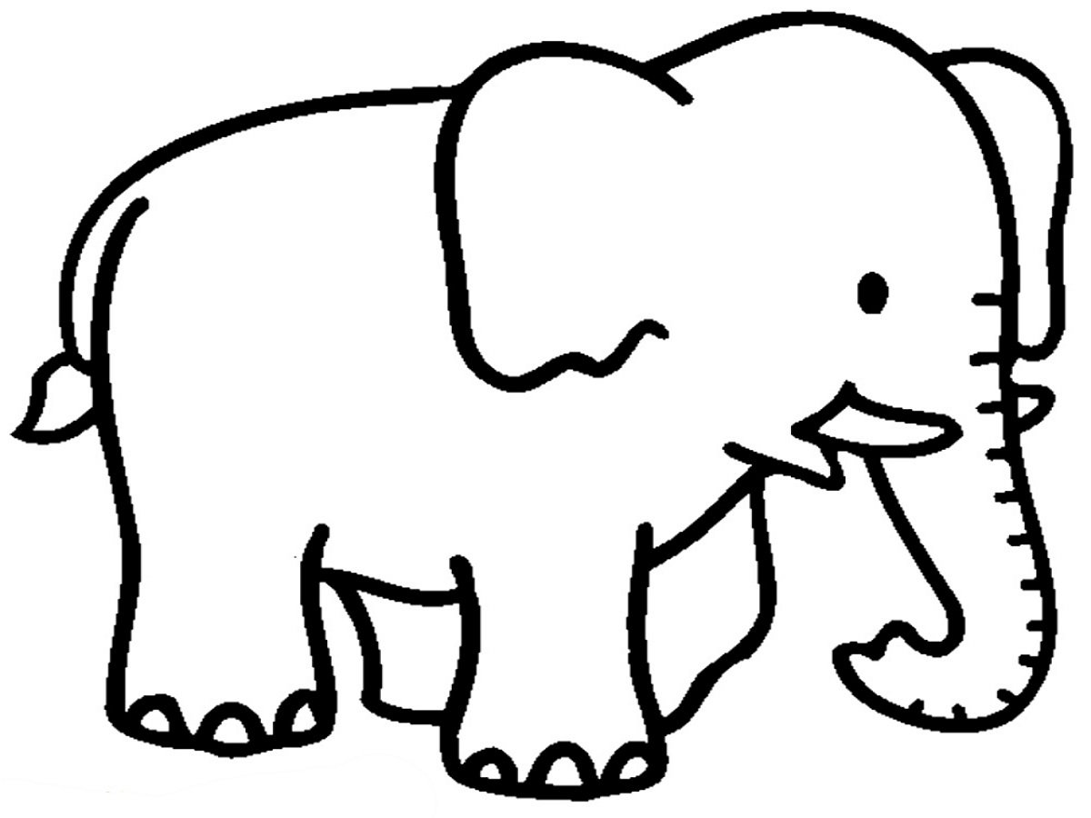 coloring pages for kids elephant