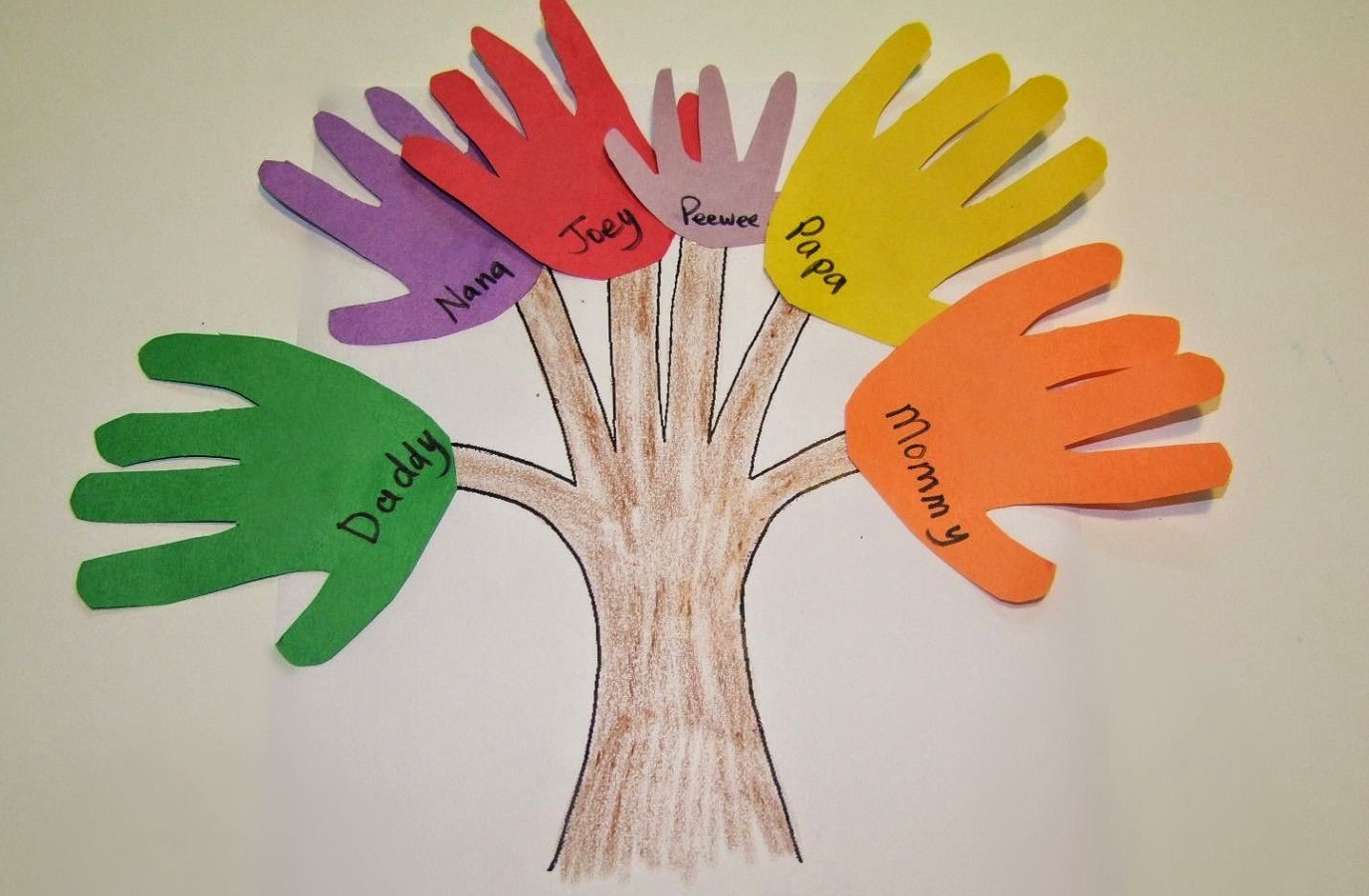 crafts for kids family tree