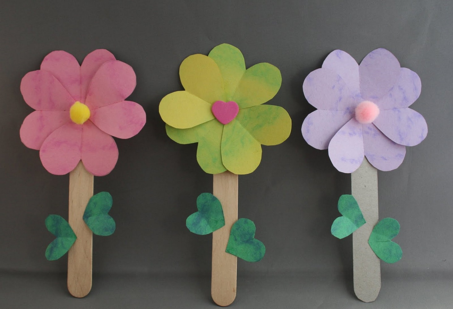 crafts for kids flowers