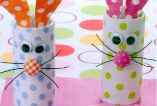 crafts for kids rabbit's glass