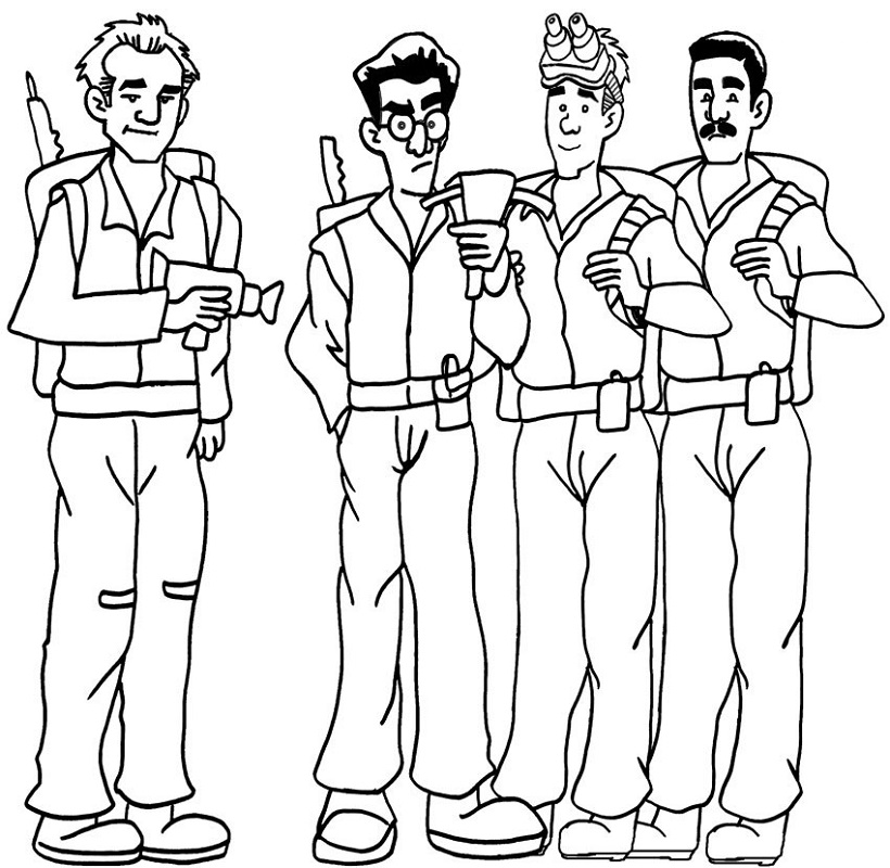 ghostbusters coloring pages ghostbusters team