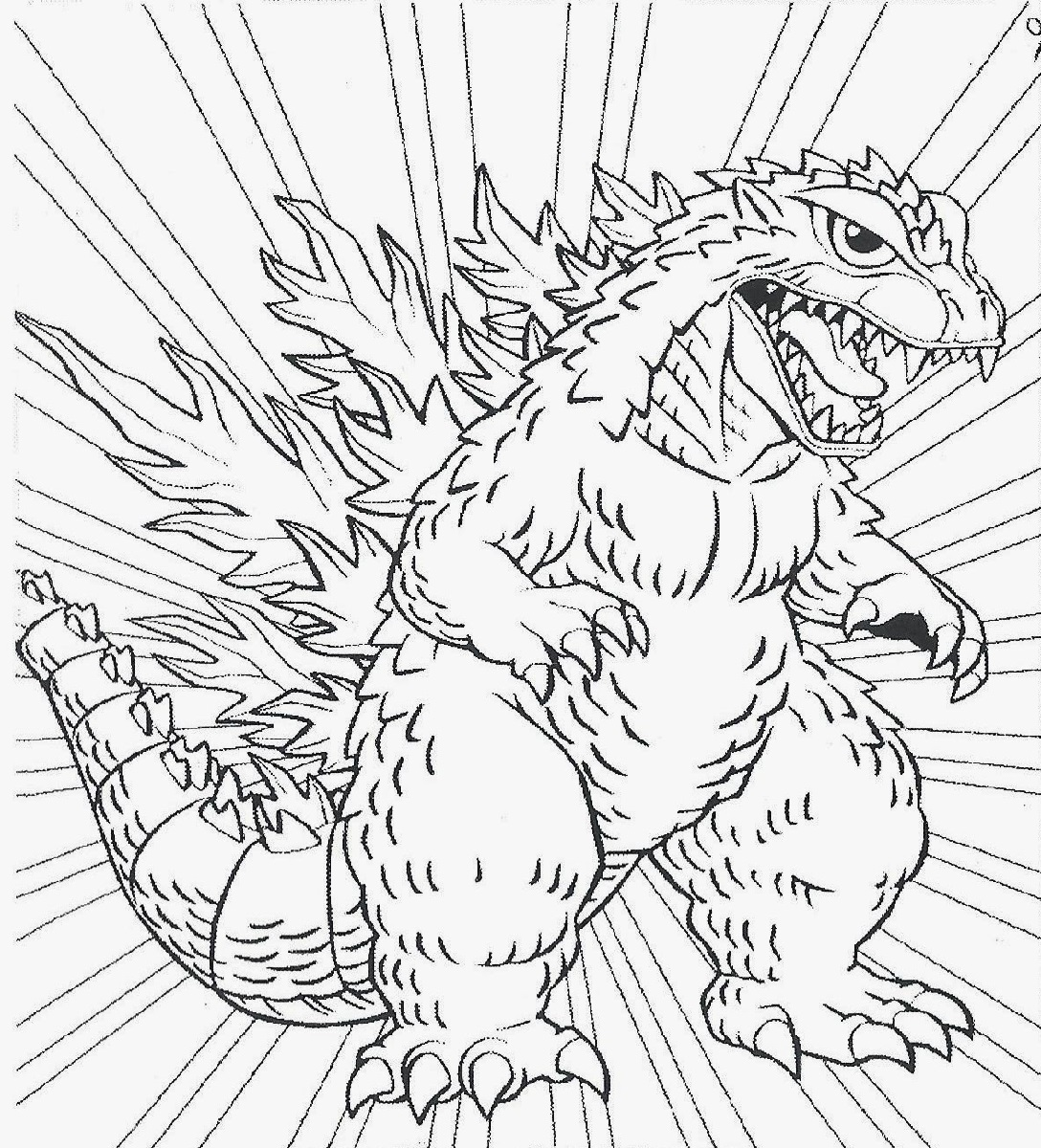 Godzilla Coloring Pages for Kids | Educative Printable
