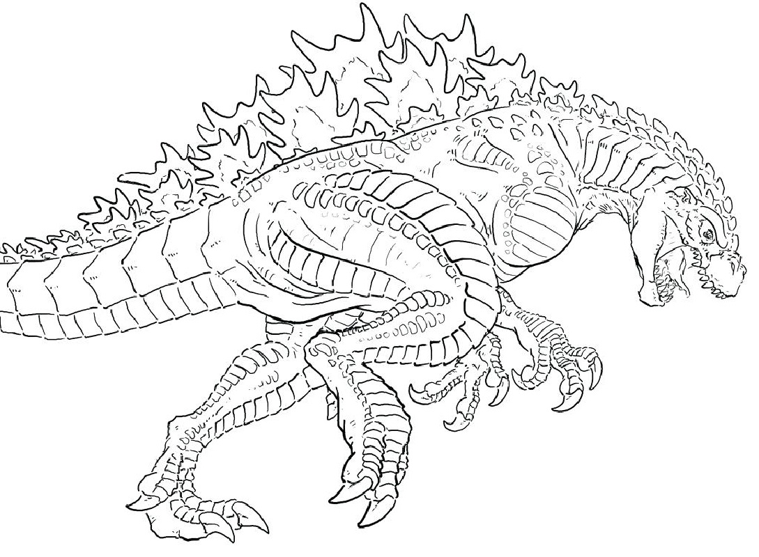 godzilla coloring pages mecha