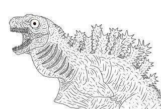 godzilla coloring pages shin