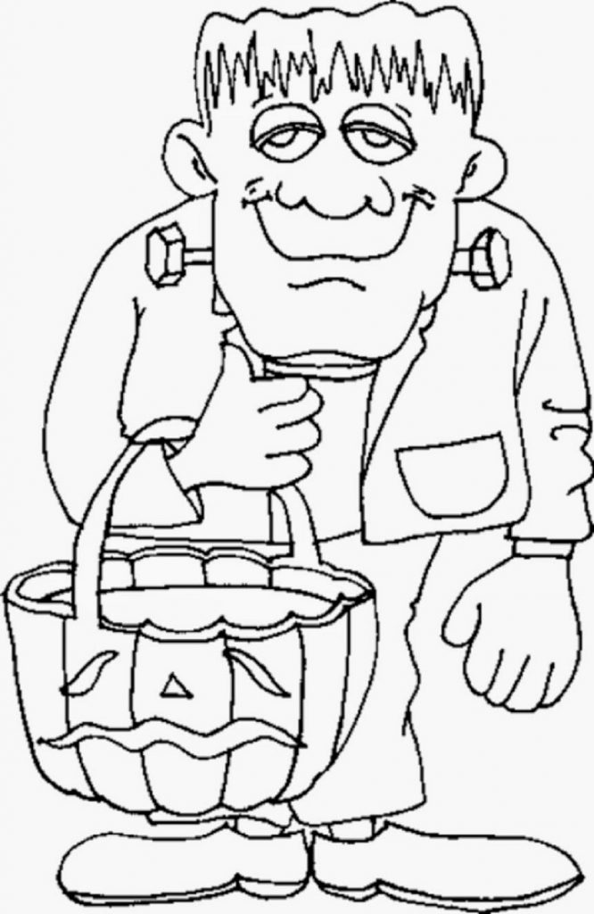 halloween coloring pages Frankenstein
