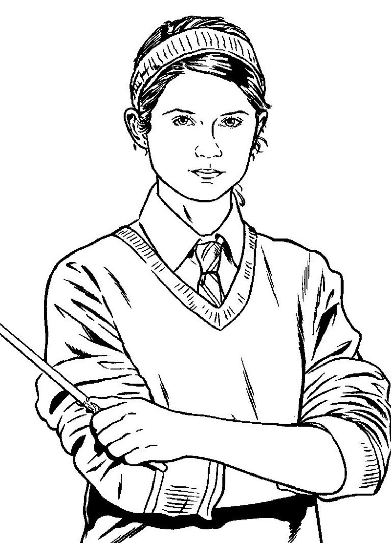 harry potter coloring pages ginny