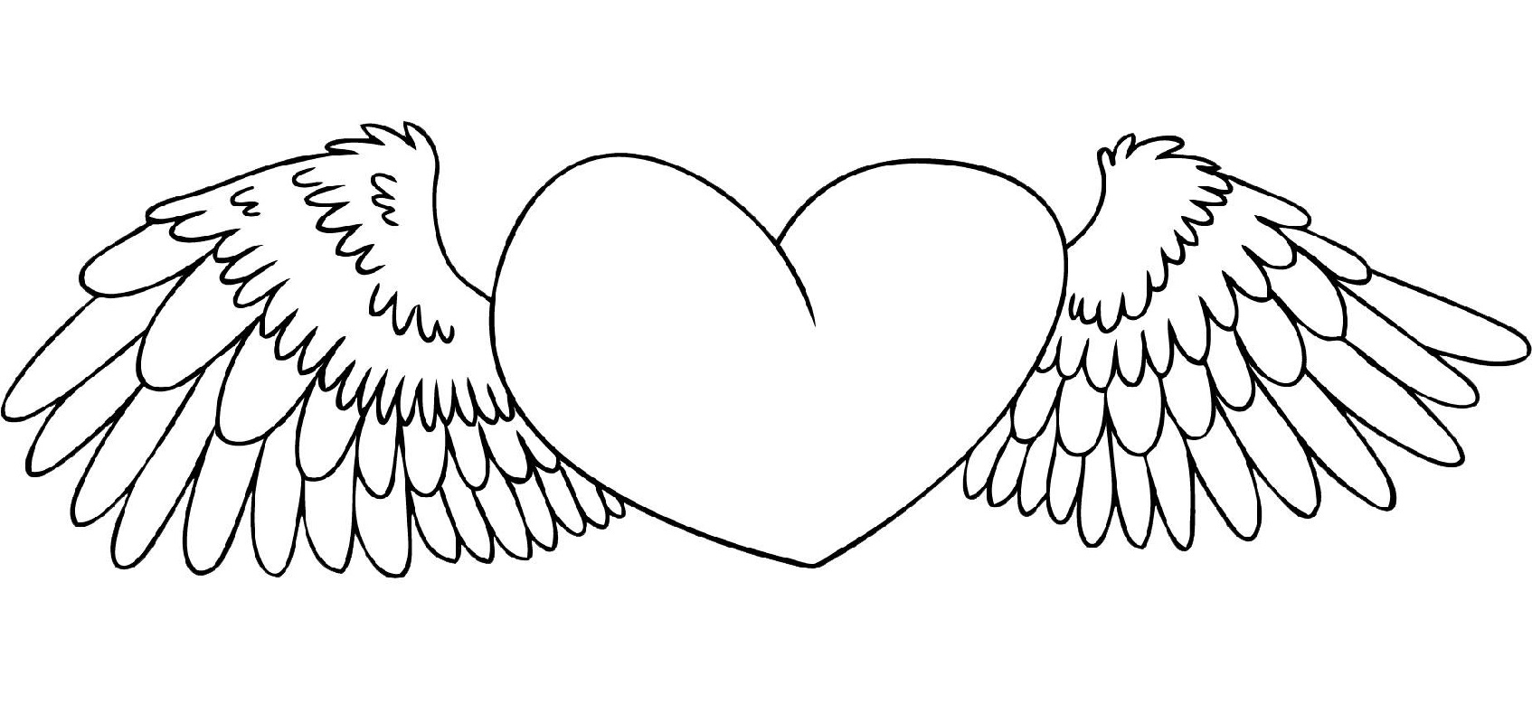 heart coloring pages heart with wings