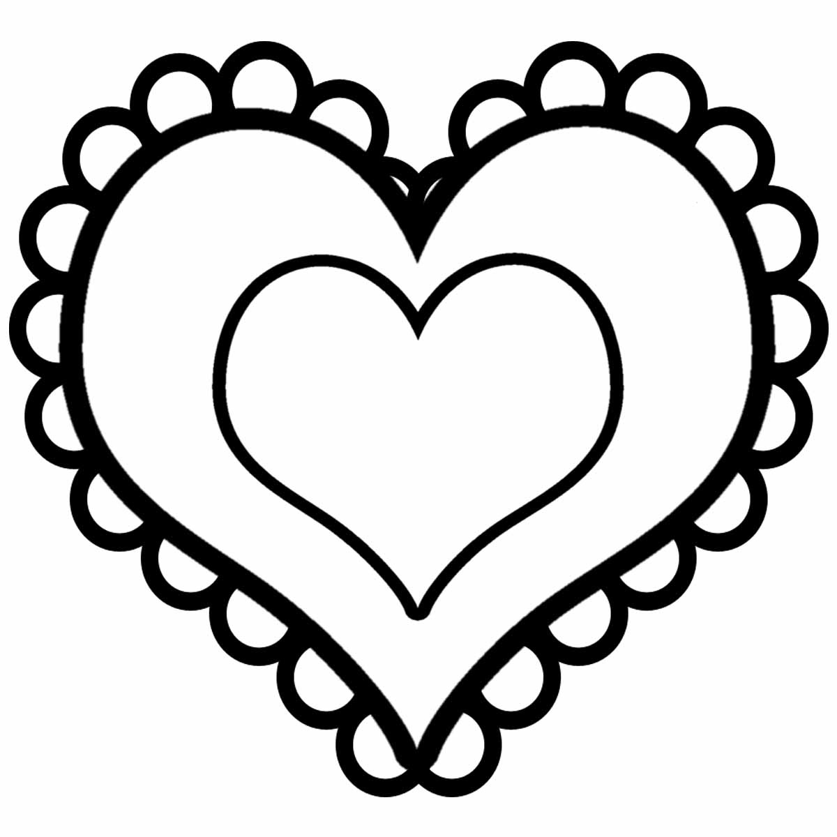 heart coloring pages love heart