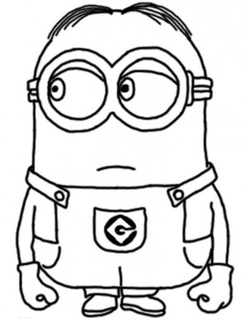 minion coloring pages dave