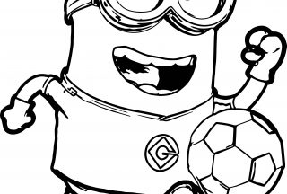 minion coloring pages minion football