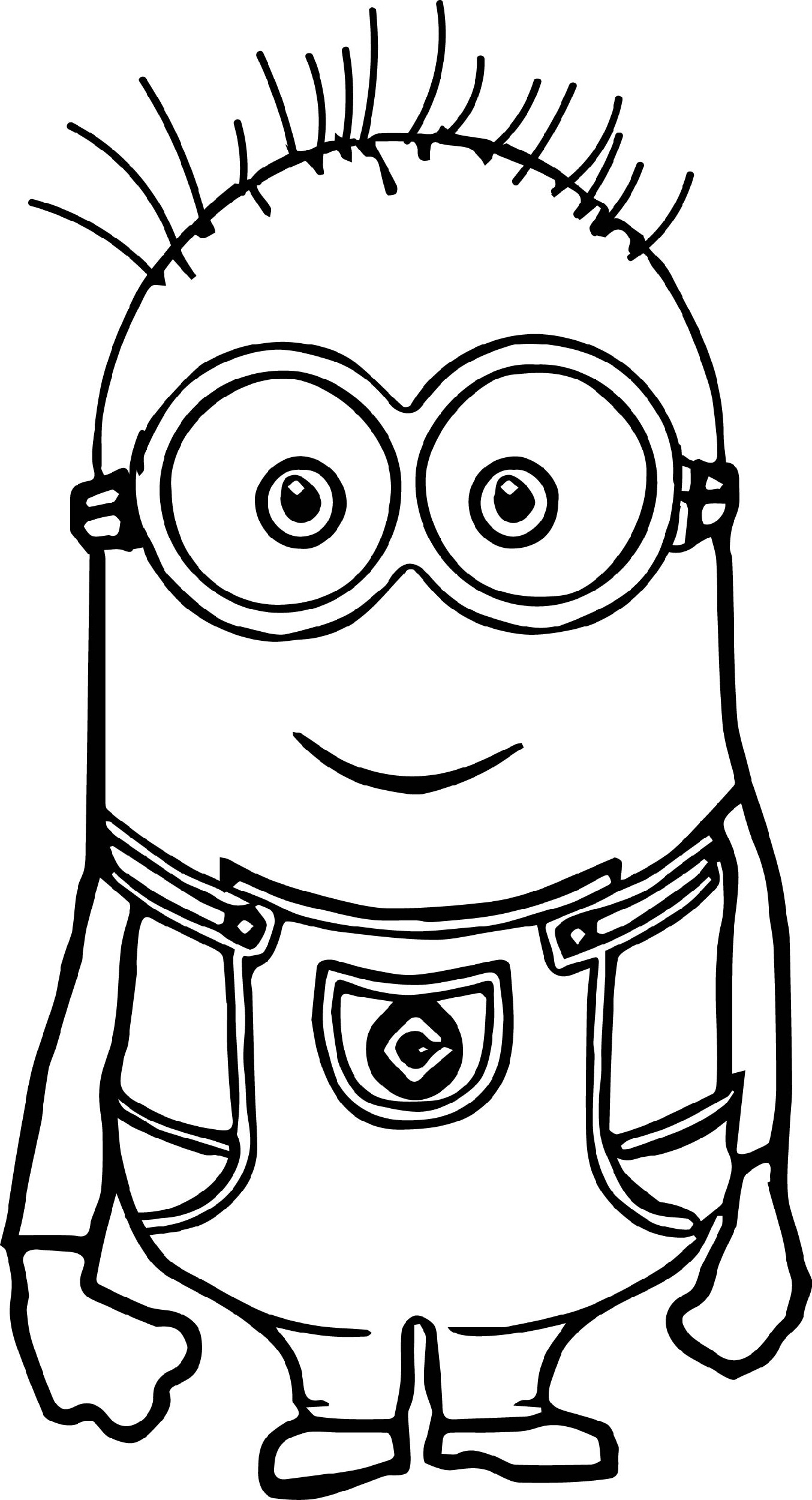 Cute Fun Minion Coloring Pages Inspiration Example Collection