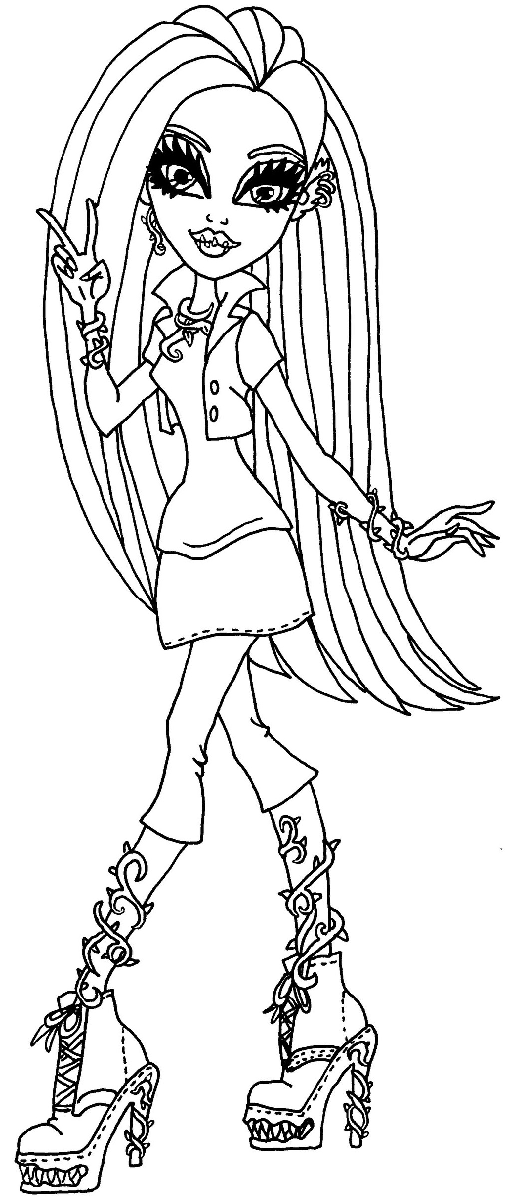 monster high coloring pages venus