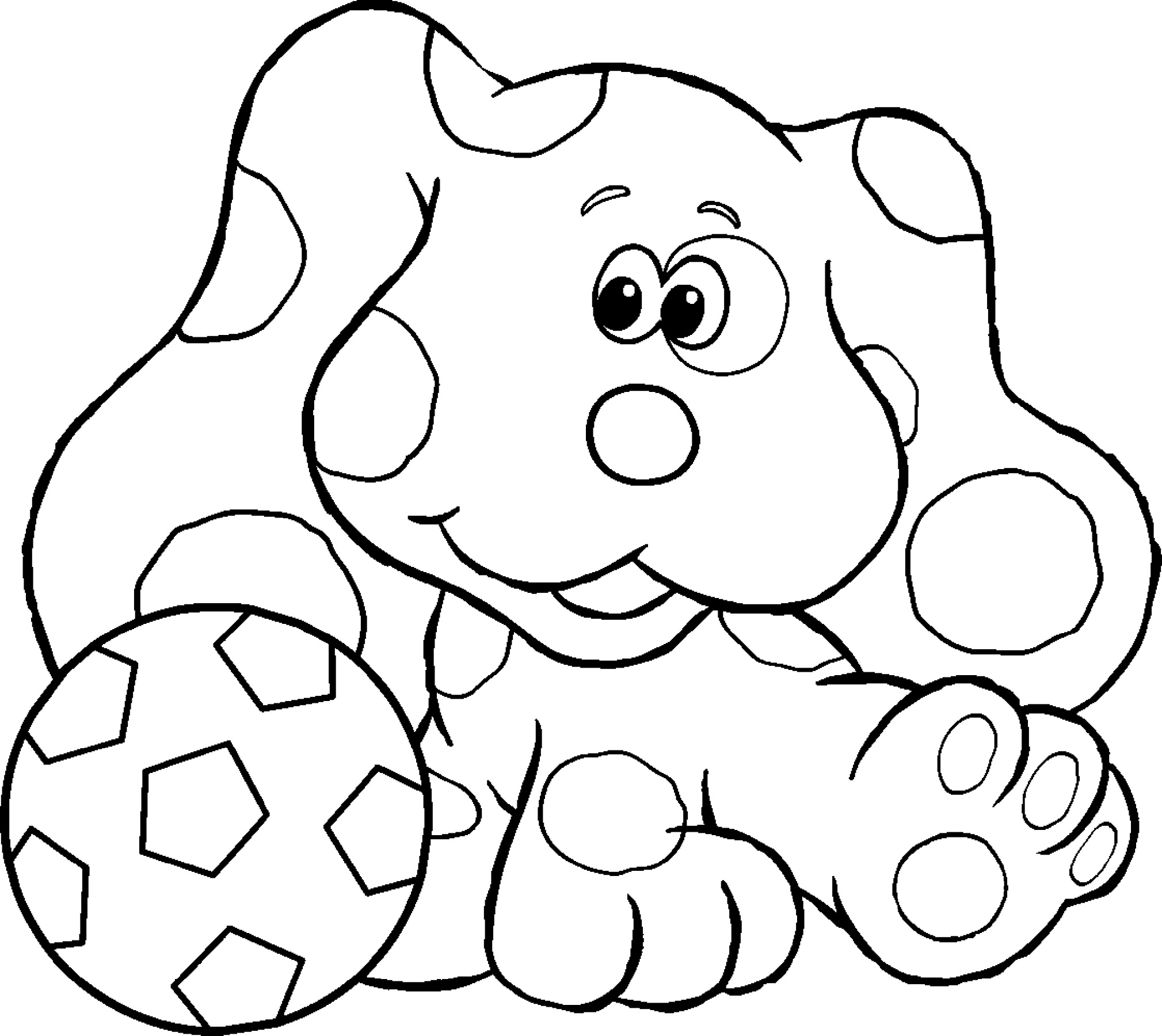 nick jr coloring pages blue clues