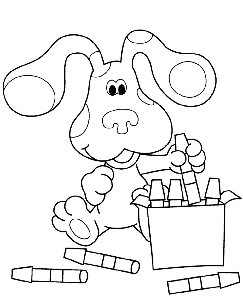nick jr coloring pages markers