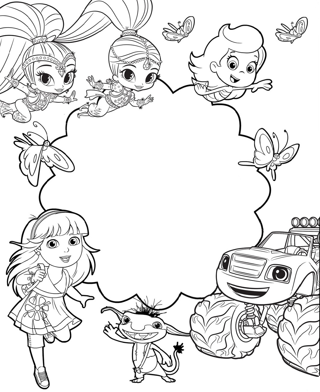 nick jr coloring pages nick jr and friend